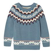 Boy's blue fairisle jumper