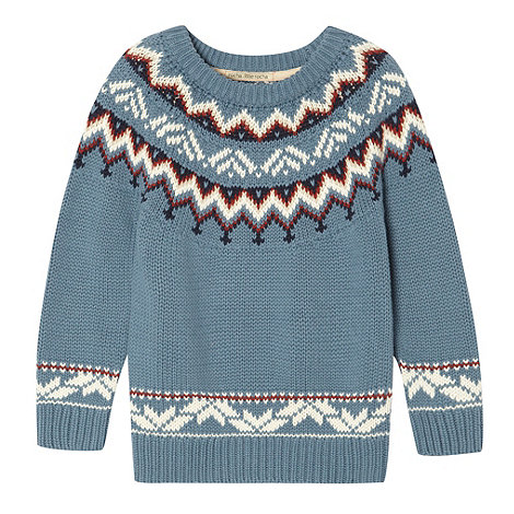 RJR.John Rocha - Boy+s blue fairisle jumper