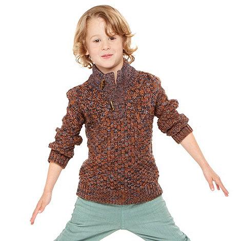 RJR.John Rocha - Boy+s multi knitted funnel neck jumper