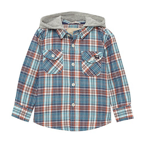 RJR.John Rocha - Designer blue hooded checked shirt
