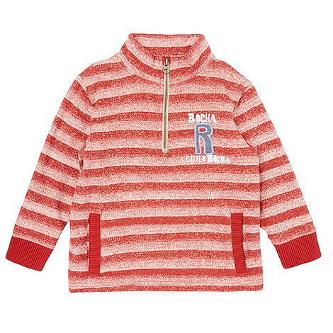 RJR.John Rocha - Boy+s red funnel neck striped sweater