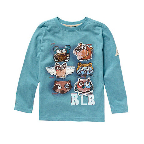 RJR.John Rocha - Boy+s blue long sleeved animals t-shirt