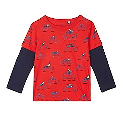 bluezoo - Boys' red car print t-shirt