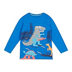 bluezoo - Boys' blue dinosaur print t-shirt