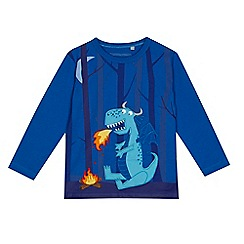 bluezoo - Boys' blue dragon applique top