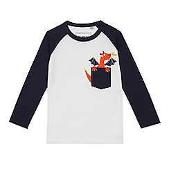 bluezoo - Boys' white dragon pocket print top