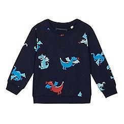 bluezoo - Boys' navy dragon print sweater