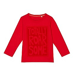 bluezoo - Boys' red 'Totally Roarsome' print top