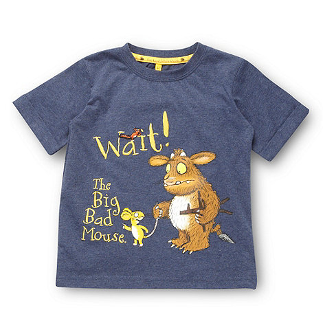 The Gruffalo - Boy+s blue +Gruffalo+ printed t-shirt