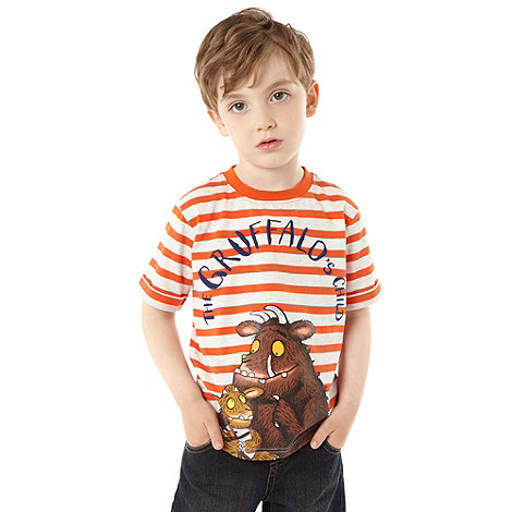 The Gruffalo - Boy+s orange striped +Gruffalo+ t-shirt