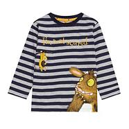 Boy's blue striped 'Gruffalo' t-shirt