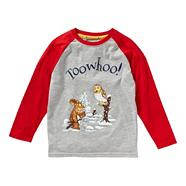 Boy's grey 'Gruffalo' raglan top