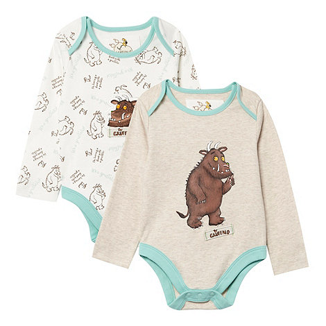 The Gruffalo - Babies pack of two cream +Gruffalo+ bodysuits