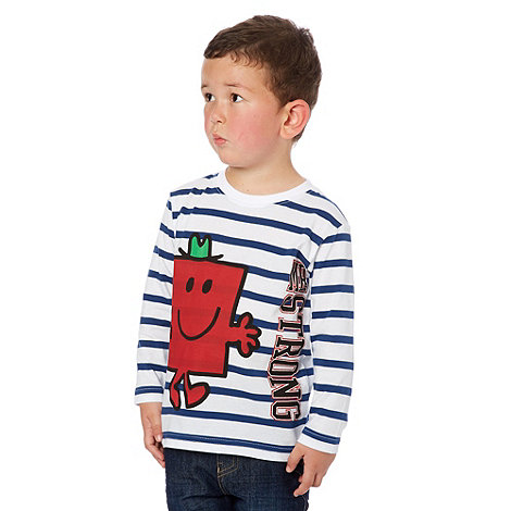 Mr Men - Boy's white 'Mr. Strong' top