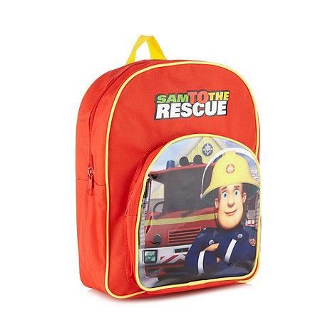Fireman Sam - Boy+s red +Fireman Sam+ backpack