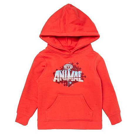 Animal - Boy+s red logo sweat hoodie