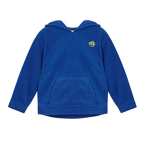 bluezoo - Boy+s blue fleece hoodie