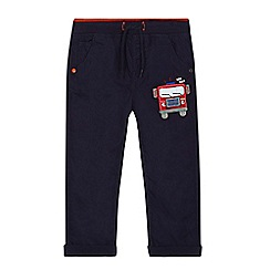 bluezoo - Boys' navy fire engine applique trousers