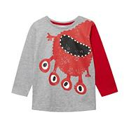 Boy's grey monster t-shirt