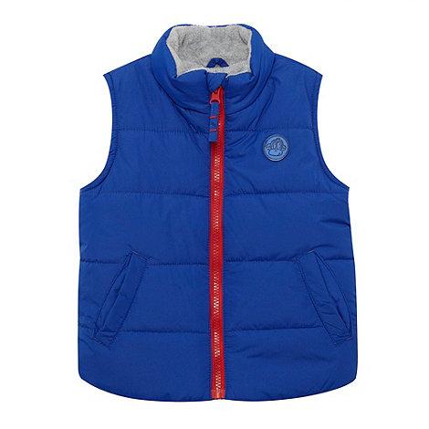 bluezoo - Boy+s bright blue padded fleece gilet