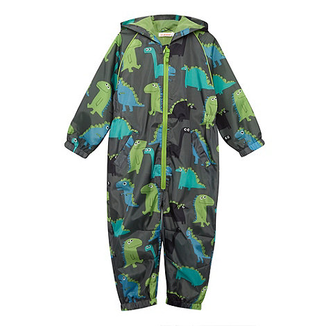 bluezoo - Boy+s green dinosaur puddle suit
