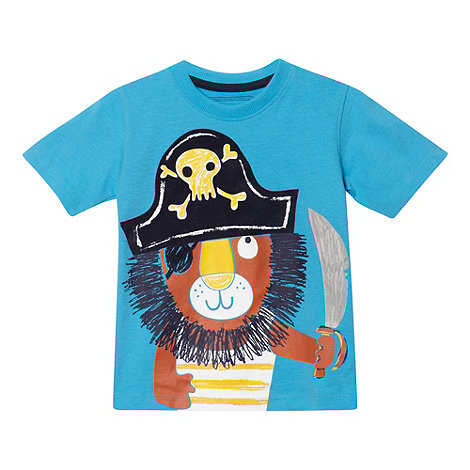 bluezoo - Boy+s blue pirate lion t-shirt