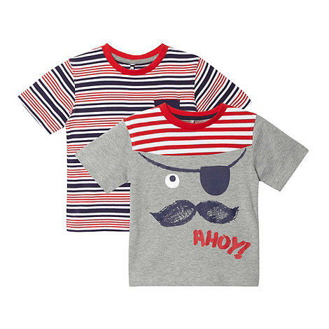 bluezoo - Pack of two boy+s pirate t-shirts