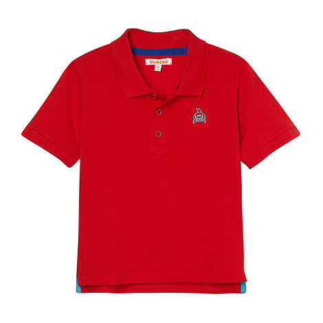 bluezoo - Boy+s red shark polo shirt