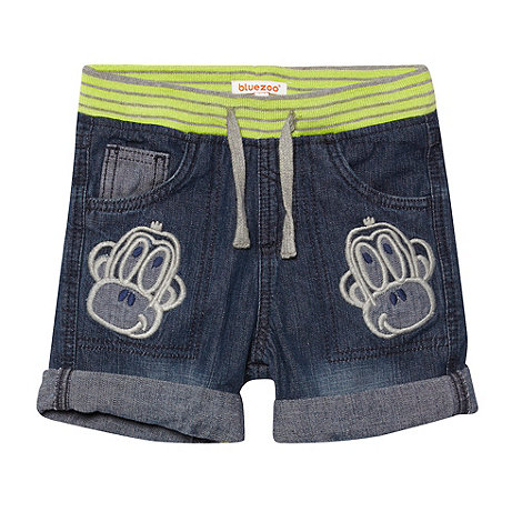 bluezoo - Boy+s blue denim monkey shorts