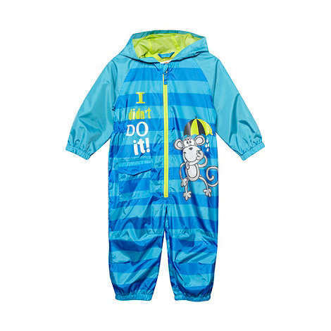 bluezoo - Boy+s navy monkey puddle suit