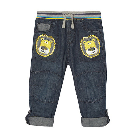 bluezoo - Boy+s blue lion applique jeans