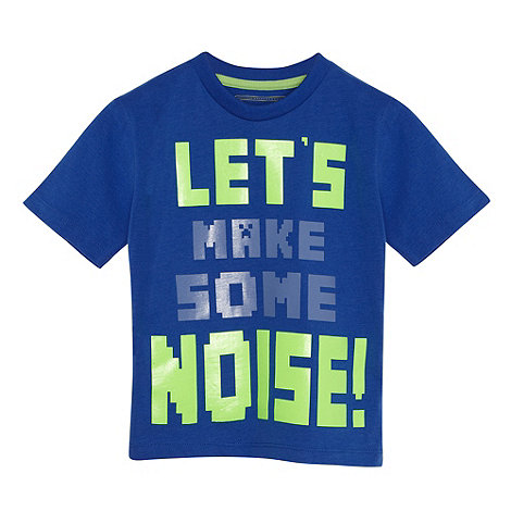 bluezoo - Boy+s dark blue +Make Some Noise!+ t-shirt