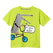 Boy's lime cycling crocodile print t-shirt