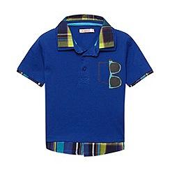 bluezoo - Boy's blue shirt collar polo shirt