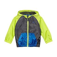 bluezoo - Boy's blue colour block hooded jacket