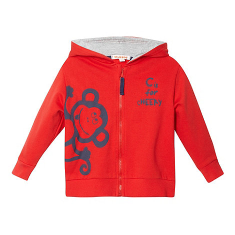 bluezoo - Boy+s red monkey hoodie
