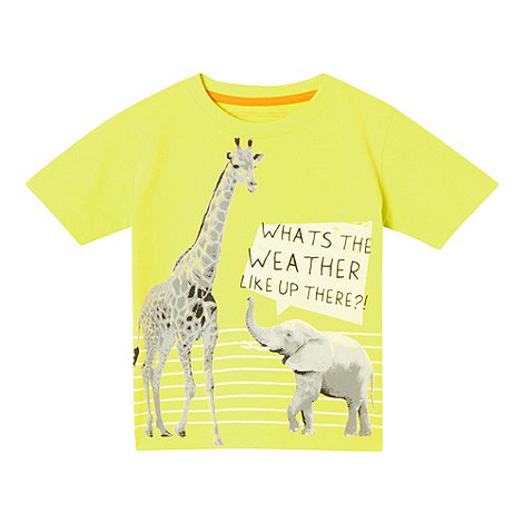 bluezoo - Boy+s yellow giraffe t-shirt