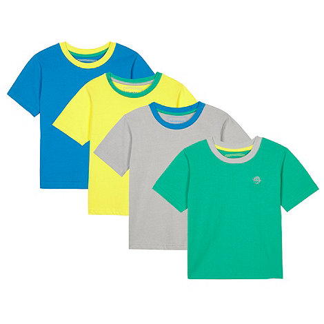 bluezoo - Pack of four boy+s lime t-shirts