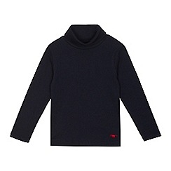 bluezoo - Boys' navy roll neck jumper