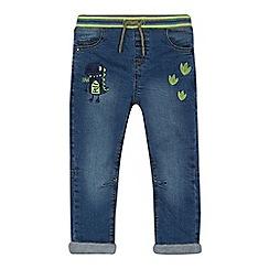 bluezoo - Boys' blue dinosaur applique jeans