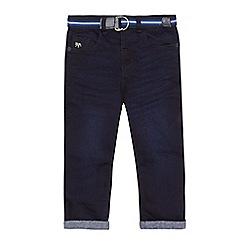 J by Jasper Conran - Boys' blue jersey lined belted jeans
