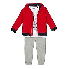 J by Jasper Conran - Boys' multi-coloured ocean print sweatshirt, top and jogging bottoms set