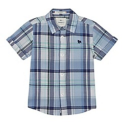 J by Jasper Conran - Boys' light blue checked shirt