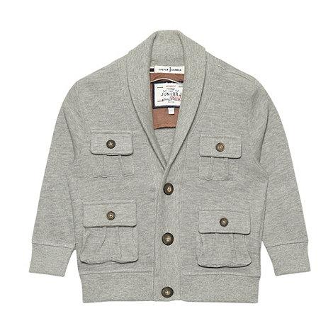 J by Jasper Conran - Designer boy+s grey shawl neck cardigan