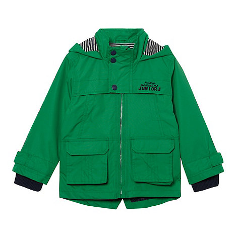 J by Jasper Conran - Designer boy+s green hooded rain coat