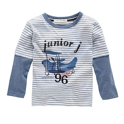 J by Jasper Conran - Designer boy+s blue striped aeroplane print top