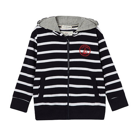 J by Jasper Conran - Designer boy+s navy striped hoodie