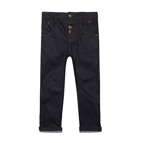 J by Jasper Conran - Designer boy+s navy coated jeans