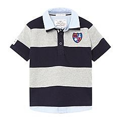 J by Jasper Conran - Designer boy's grey striped mock shirt collar polo shirt