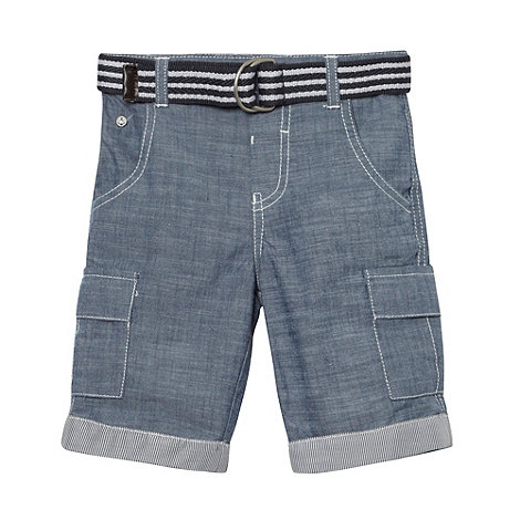 J by Jasper Conran - Designer boy+s blue chambray belted trousers